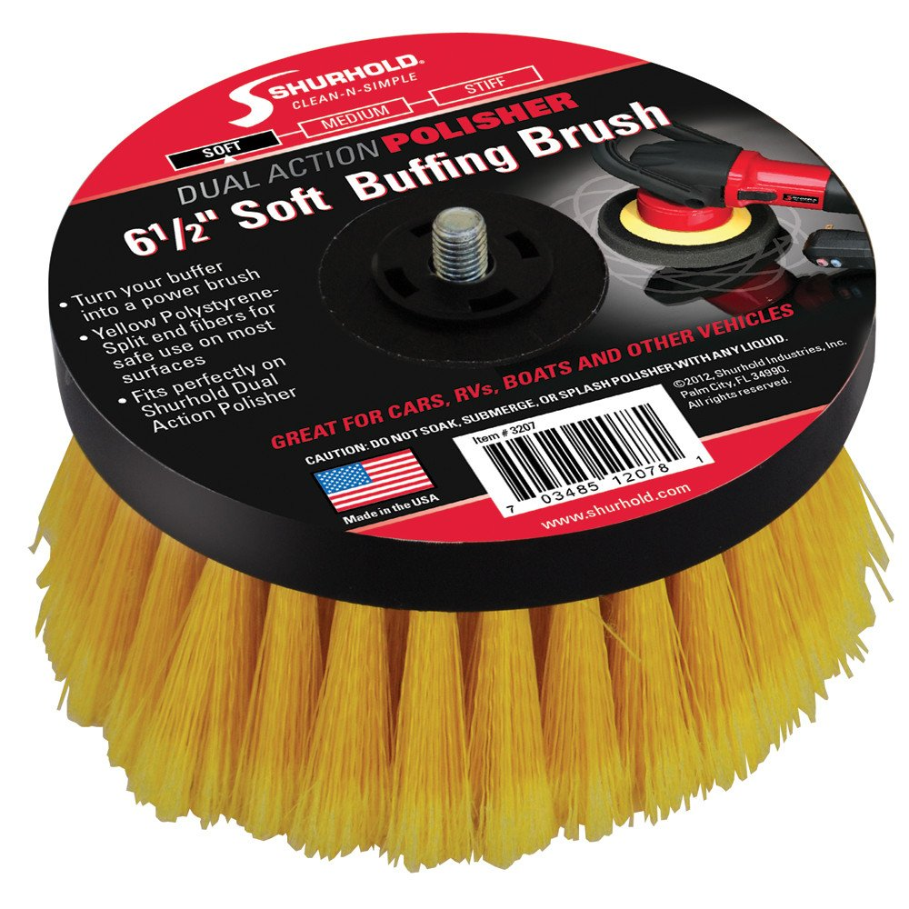 Shurhold 6-½'' Soft Brush f/Dual Action Polisher by Shurhold