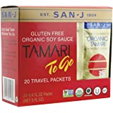 San-j Organic Tamari Gluten Free Soy Sauce Travel Packs 20x1/4fl.oz(Pack of 3)