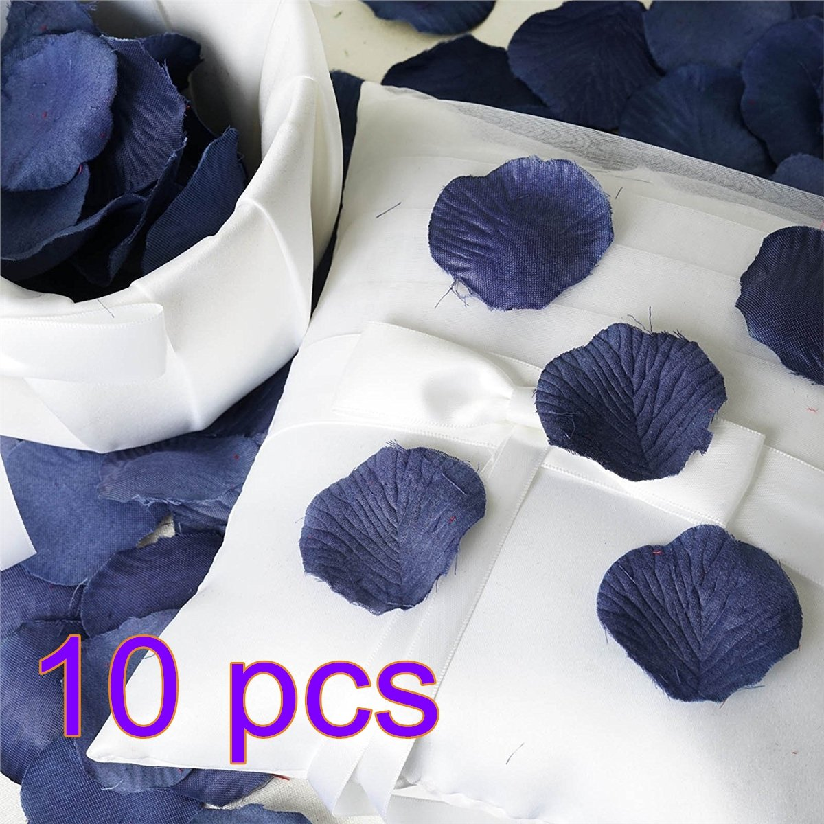 Rose Petals - Silk Artificial Flower Petals - Navy Blue Roses Flower Petals for Wedding Confetti Table Scatter Bridal Shower Party Flora Petal Favor 1000pcs Hemore
