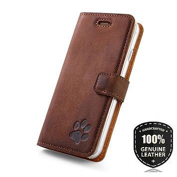 Farbe Blau Schlüsselanhänger Premium Echtes Ledertasche Schutzhülle Tpu Wallet Flip Case Nubuk