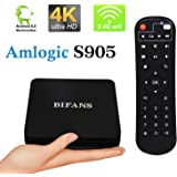 BIFANS P5 PRO Amlogic S905 64Bit Quad-Core, Smart Media Player TV Box, 1G RAM 8G ROM, 4K Ultra HD Bluetooth4.0 with WIFI Ethernet