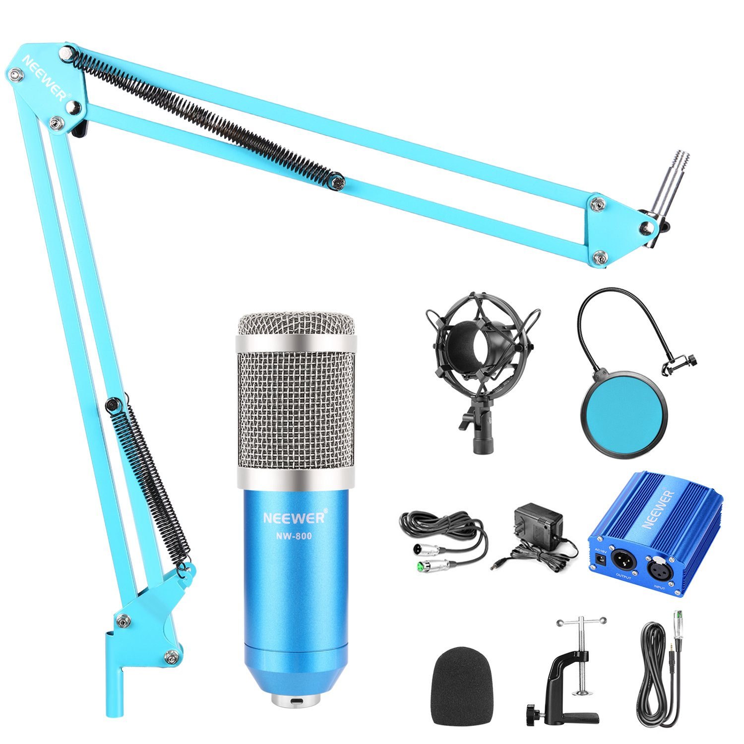 Amazon.com: Neewer Condenser Microphone Kit: Musical Instruments