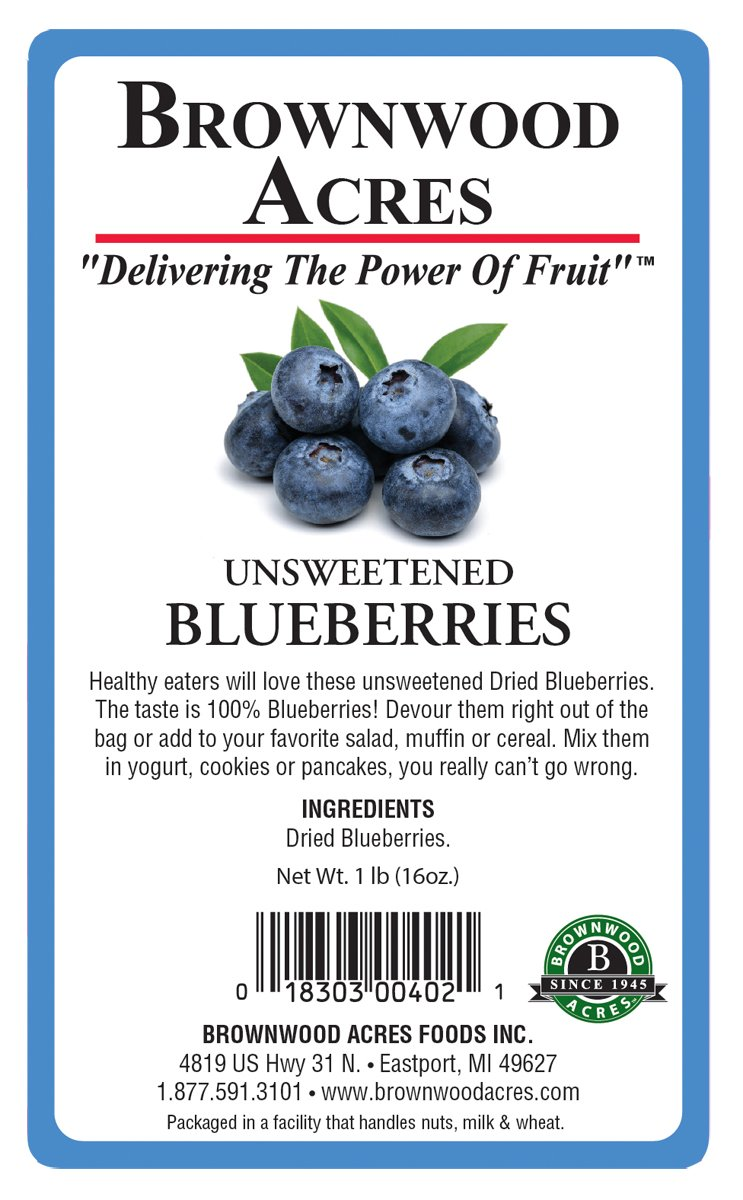 Unsweetened Dried Blueberries by Brownwood Acres - No Added Sugars, Oils or fillers - Just Blueberries! (3 Pounds) by Brownwood Acres (Image #2)