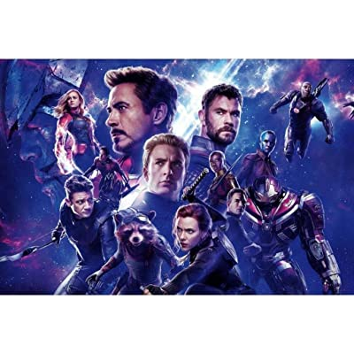 DLL- Avengers League Wooden Jigsaw Puzzles 1000 Pieces, Infinity War Movie Stills Art Educational Toy Decorative Painting Gift Home Decor (Color : B, Size : 1000pc): Kitchen & Dining