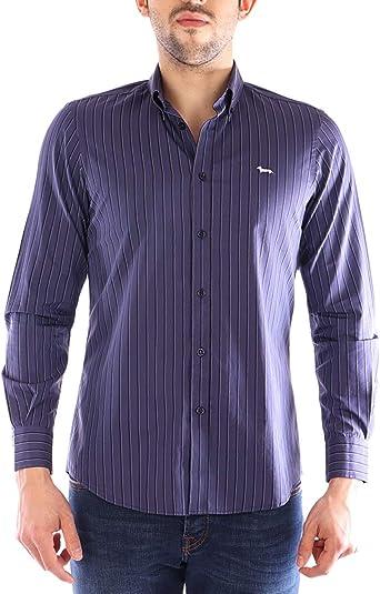 Harmont&Blaine Camisa Azul Rayas: Amazon.es: Ropa y accesorios