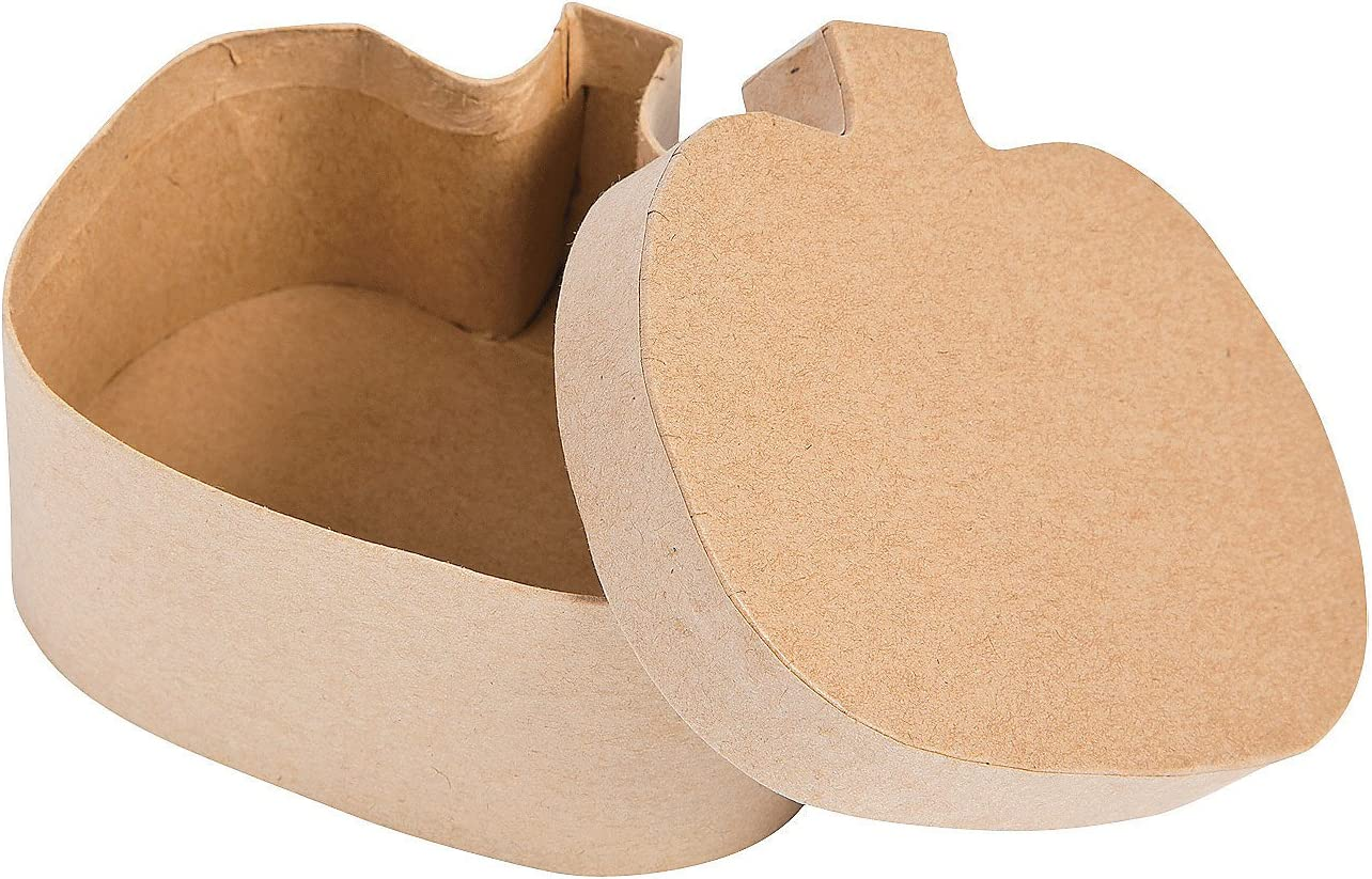 Do It Yourself Pumpkin Shaped Cardboard Boxes 1 Dz Crafts for Kids and Fun Home Activities