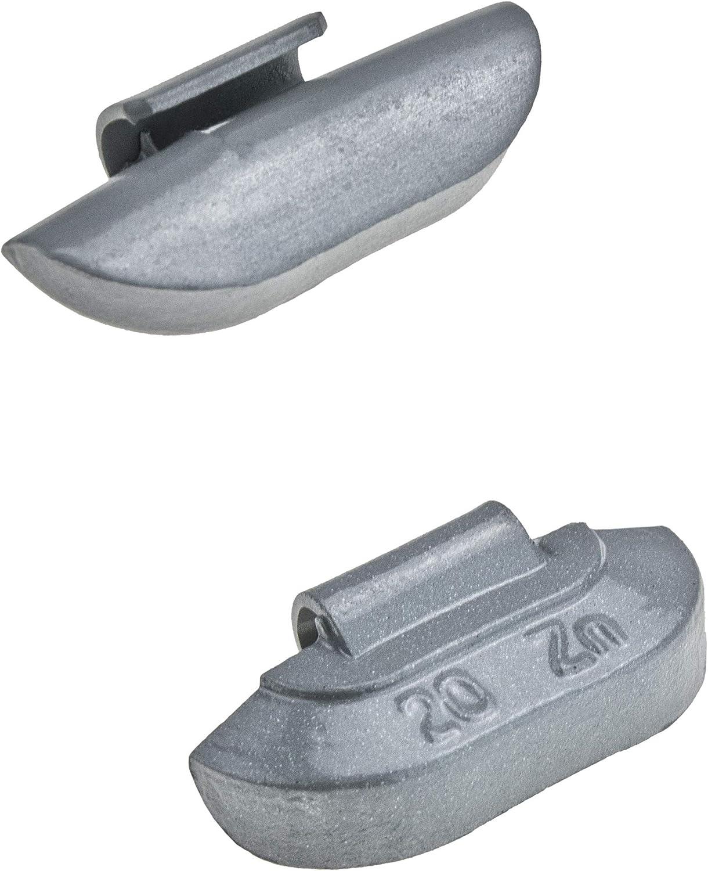 Stix Schlaggewichte Satz 25x10g ZN Auswuchtgewichte Wuchtgewichte Zink Gewicht f/ür Stahlfelgen