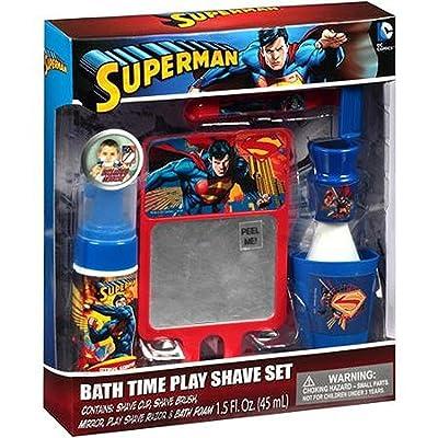 UPD Superman Bath Time Play Shave Set, Multi/Color: Home & Kitchen