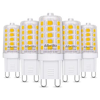 Albrillo 5er Pack 3.5W G9 LED Lampe 350 Lumen, 3000k warmweiß und ...