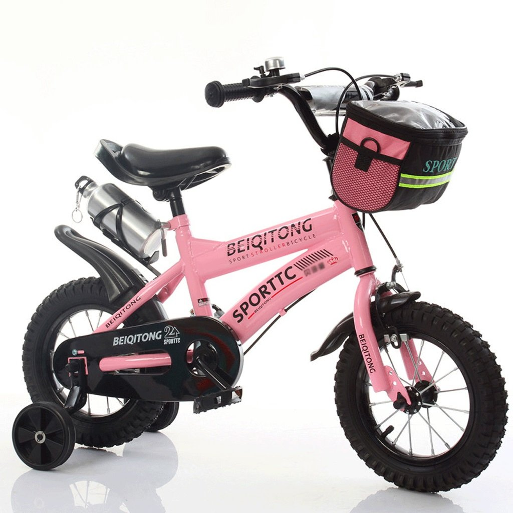 LI HAO SHOP Niños bicicleta cochecito de bebé niños bicicleta de montaña (versión de rueda normal) (Color : Pink, Size : 16 in)