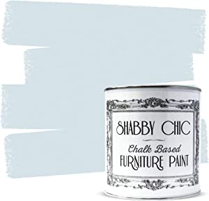 Shabby Chic Furniture Chalk Paint: Chalk Based Furniture and Craft Paint for Home Decor, DIY Projects, Wood Furniture - Chalked Interior Paints with Rustic Matte Finish - 250ml - Dusty Blue