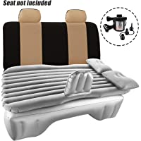 Haomaomao Car Air Mattress Travel Inflatable Back Seat Air Bed Cushion with Auto Pump and Two Pillows, Portable Camping Vacation Rest Sleeping Pad Fits Universal SUV Truck Minivan Separable Extended