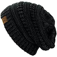 C.C Trendy Warm Chunky Soft Stretch Cable Knit Beanie Skully c97f266110