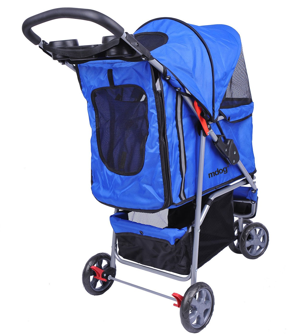 MDOG2 MK0015A 3-Wheel Front and Rear Entry Pet Stroller, Blue by MDOG2 (Image #3)