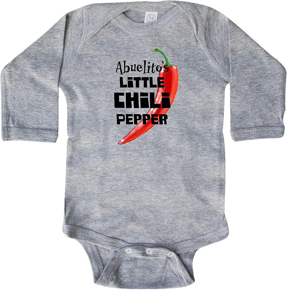 inktastic Abuelitos Little Chili Pepper Long Sleeve Creeper