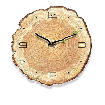 Amazon Com 3d Diy Vintage Wooden Clock Office Home Kitchen