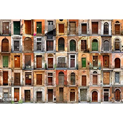 HCYEFG 1000 Pieces Photo Jigsaw Puzzle Doors - Rome, Italy DIY Toys for Adults Decoration Collectiable: Home & Kitchen
