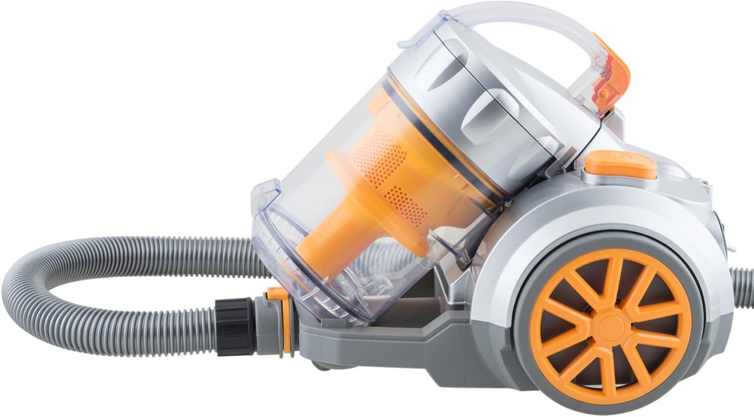 H.Koenig TC34 - Aspirador sin bolsa multiciclónico, Filtro HEPA, color naranja [Clase de eficiencia energética A]: Amazon.es: Hogar