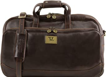 Tuscany Leather Samoa Trolley leather bag - Small size Dark Brown be05d5d45325f