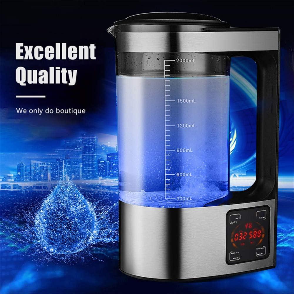 4YANG 2L Máquina de Agua Rica en hidrógeno microelectrólisis, máquina ionizadora de Agua alcalina, Pantalla LED y función táctil Inteligente, para el ...