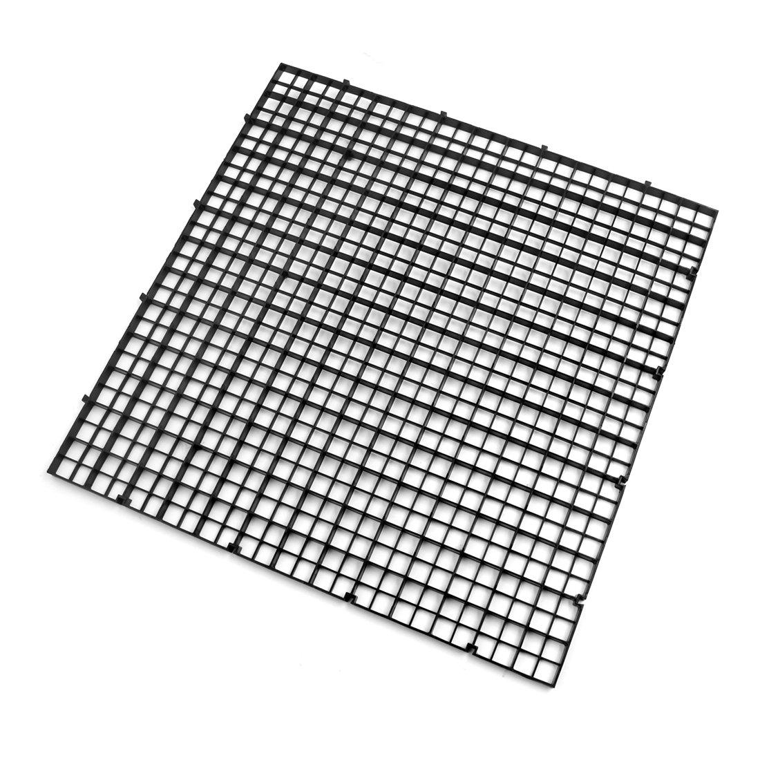 sourcingmap Carré en plastique noir 6pcs Séparation Poisson Betta Isolation Conseil Accessoires Réservoir a17080700ux0711