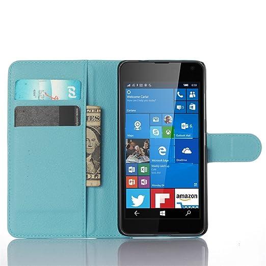 4 opinioni per Portafoglio Cover per Microsoft Lumia 650, Fukalu Stile Libro Flip Cover