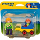 Playmobil 6749 1.2.3 Monther with Baby and Stroller