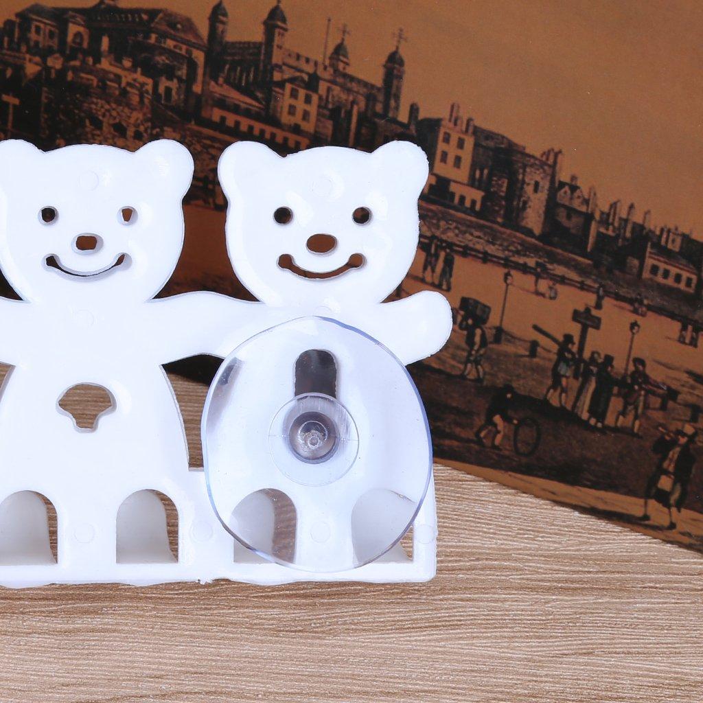 con ventosa Youliy 5 posizioni Portaspazzolino da denti a forma di orso montaggio a parete