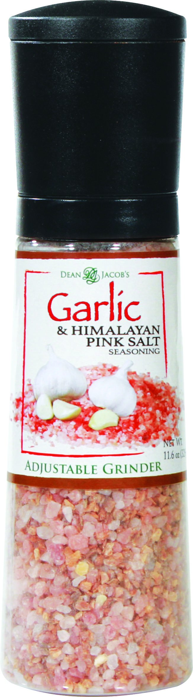 Dean Jacobs Jumbo Grinder, Roasted Garlic and Himalayan Pink Salt Seasoning, 11.6 Ounce