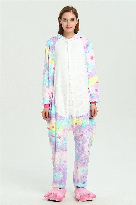 Colorfulworld Unicornio Anime Disfraces Trajes Disfraz Cosplay Animales Pijamas Pyjamas Ropa (M, Star): Amazon.es: Hogar