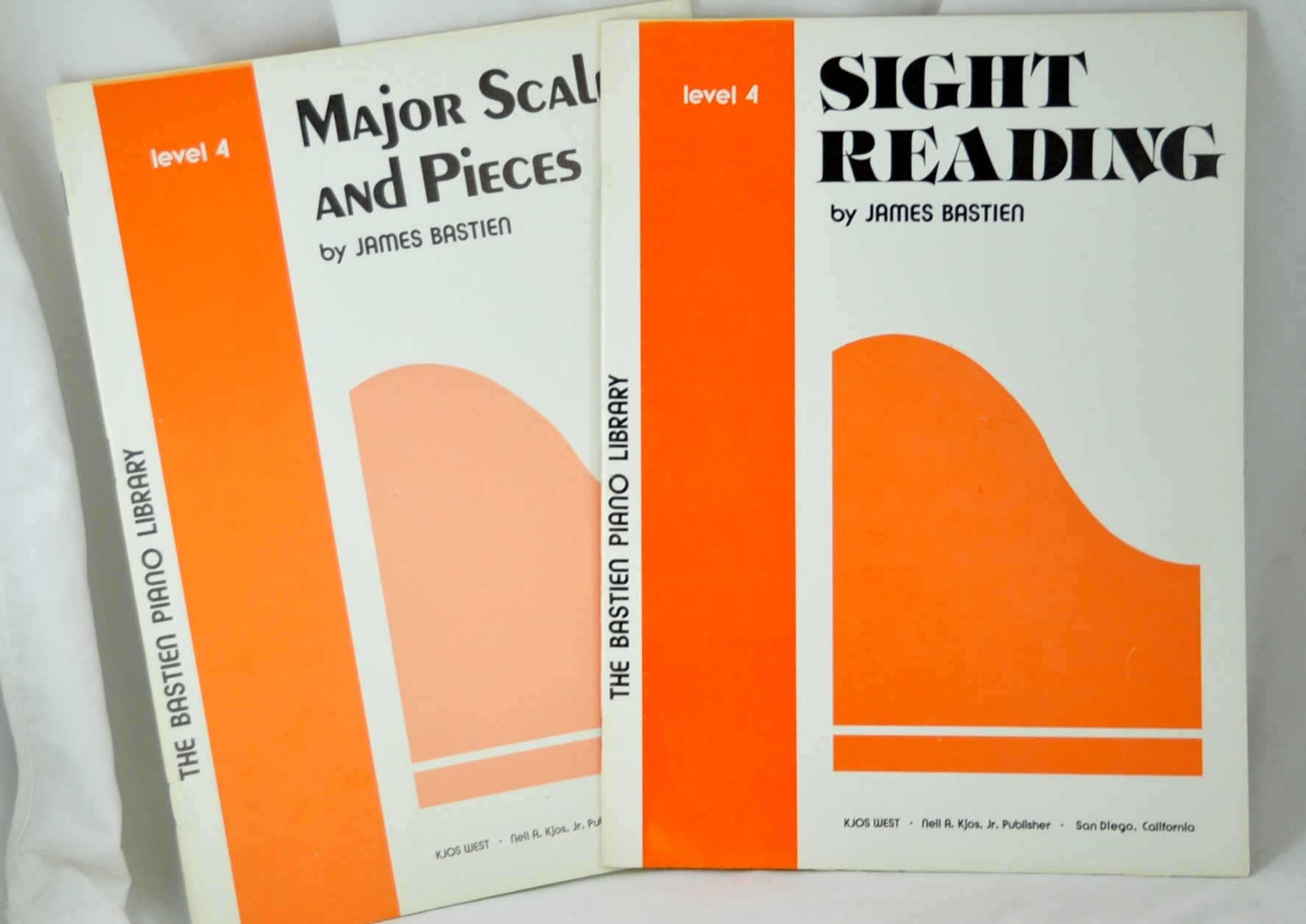 bastien piano library level 4 sight reading major scales and pieces set of 2 books