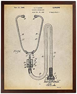 Turnip Designs Stethoscope Poster Art Print Doctors Office Decor Nurse Prints Medical Poster Art Print Medical Art TNP24