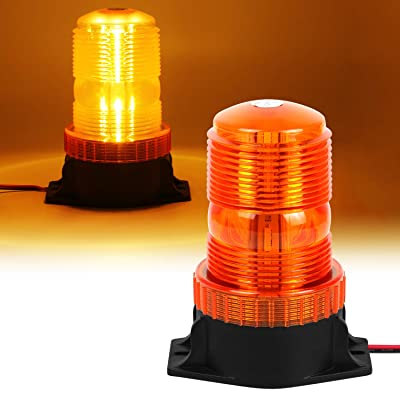 NISUNS 30LED Amber/Yellow Emergency Warning Flashing Safety Strobe Beacon Light for Forklift Truck Tractor Golf Carts UTV Car School Bus, 9-30V: Automotive