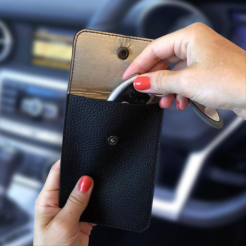 Faraday Cage Black Faraday Bag for Car Keys 2 x keyless car key signal blocker pouch Car Key Signal Blocker Pouch Car RFID Key Security Accessories
