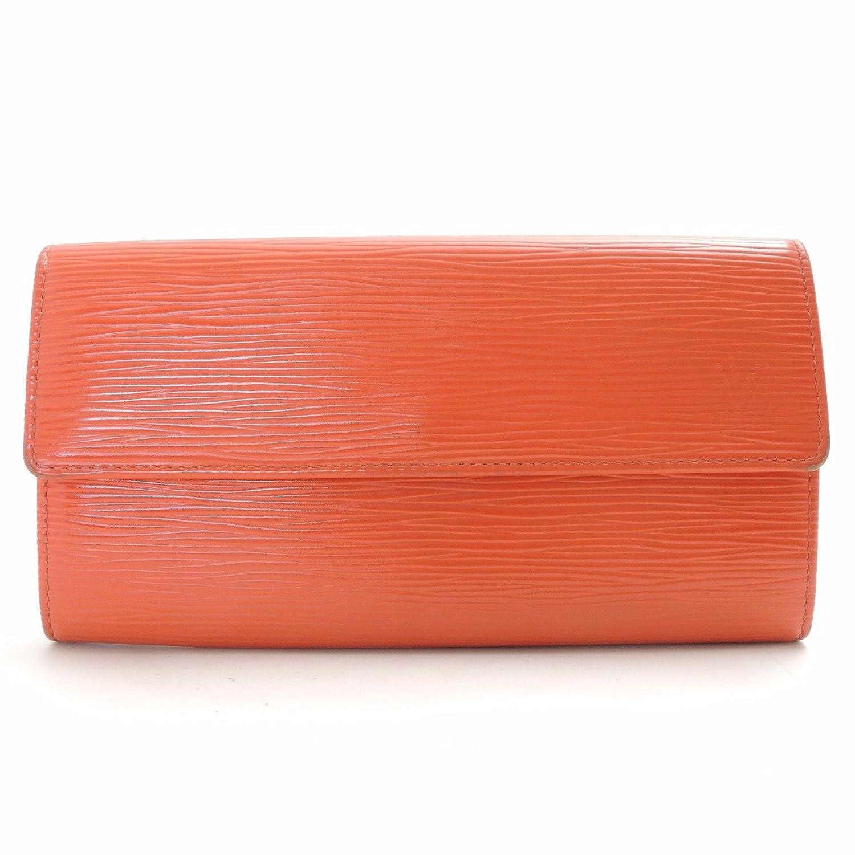 (ルイヴィトン)LOUIS VUITTON 二つ折り財布(小銭入れなし)ポルトフォイユサラ エピレザー ピモン オレンジ 中古 B074N6FWJ5