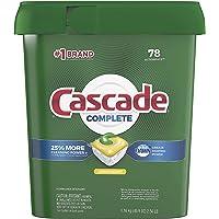 Cascade Complete Dishwasher Pods, Actionpacs Dishwasher Detergent, Lemon Scent, 78 Count (#. 0 1 Box of 78)