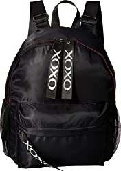 XOXO Womens Nylon Backpack w/Logo Webbing