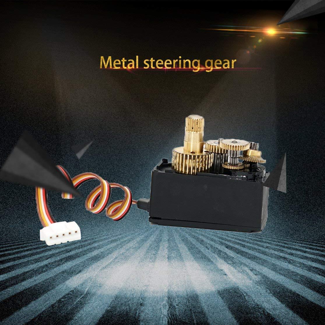 Candybarbar CA3445 para Wltoys Mejorado 25g Metal Gear Servos para Wltoys 12428 12423 RC Coche Equipo de direcci/ón Modelo Parte Accesorios