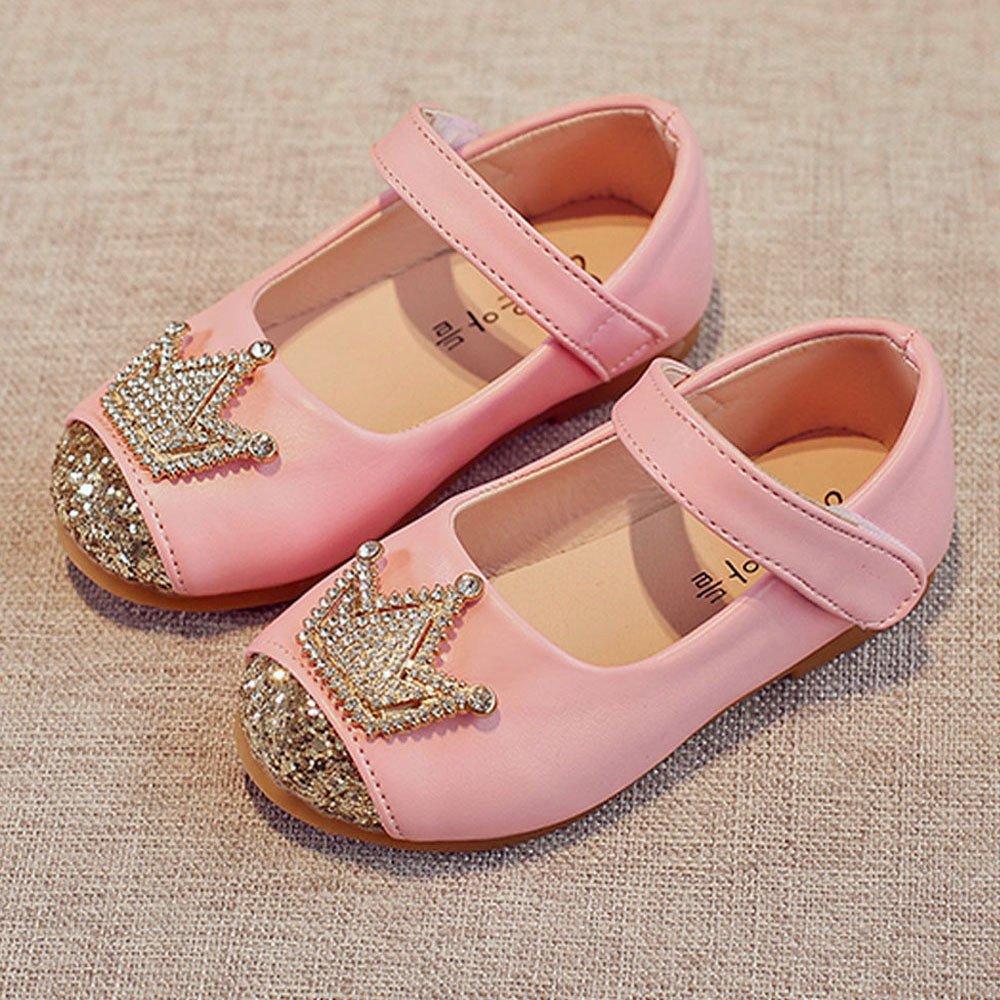 Little Girls Adorable Sparkle Princess Party Crown Diamond Dress Shoes SMALLE ◕‿◕ Girls Princess Shoes in Parties