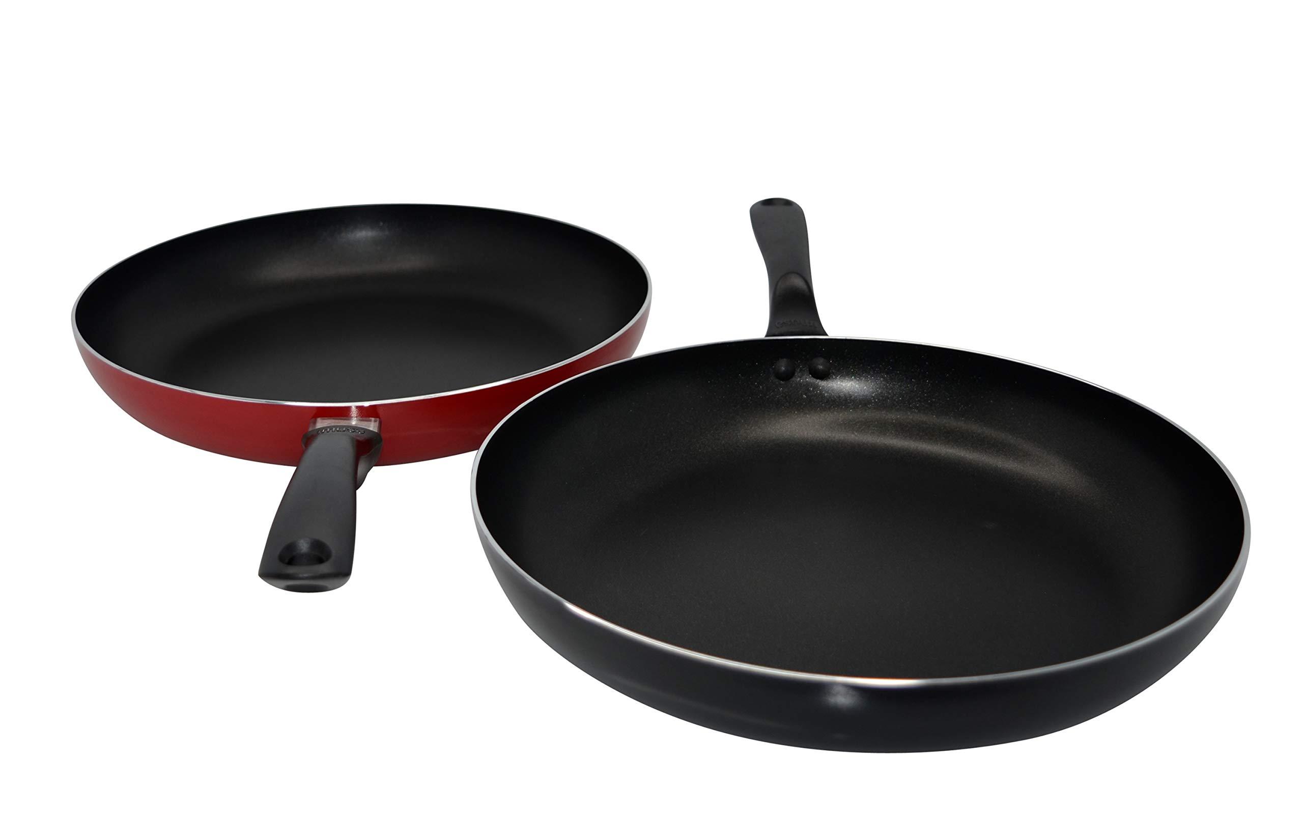 IMUSA USA IMU-01874 Premier Saute Pan 12-Inch, Red or Black by Imusa (Image #1)