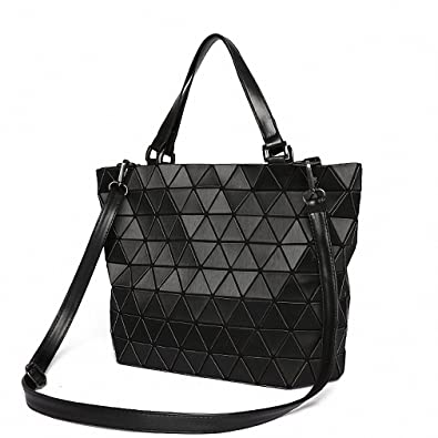Matte Women BaoBao Bag Geometry Sequins Mirror Saser Plain Folding Shoulder  Bags Luminous Handbag Casual Tote 792ac1333b204