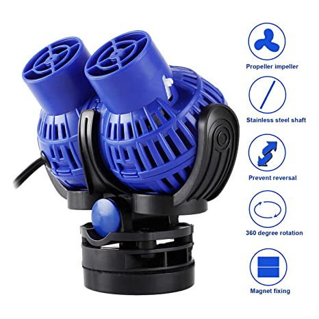 Everbest4u 230 de JVP Acuario Wave Maker 6000 L/h 8 W 360 ° orientable
