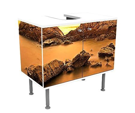 La Roccia Mobili Bagno.Wandmotiv24 Mobile Bagno Cielo E Gruppo Di Rocce Variopinte