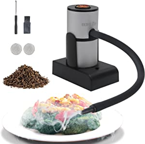 Portable Smoking Gun Wood Smoke Infuser ,Handheld Food Kitchen Smoker for Sous Vide,Meat,Salmon,Cocktails Drink,Cheese,BBQ,Grill,Wood Chips Included
