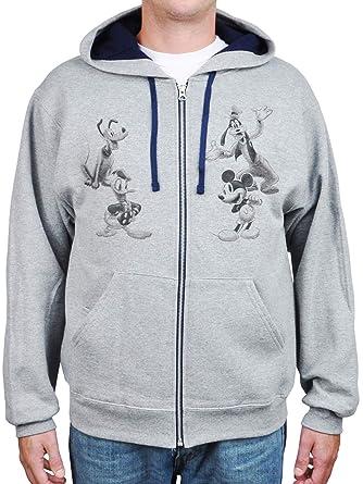 5ba5a565e2f Disney Hoodie Men s Mickey Mouse Donald Goofy Pluto Sweatshirt Jacket ( Medium)