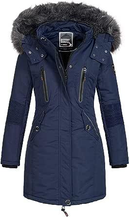 Geographical Norway - Parka de Invierno para Mujer Coracle/Coraly con Capucha de Piel XL