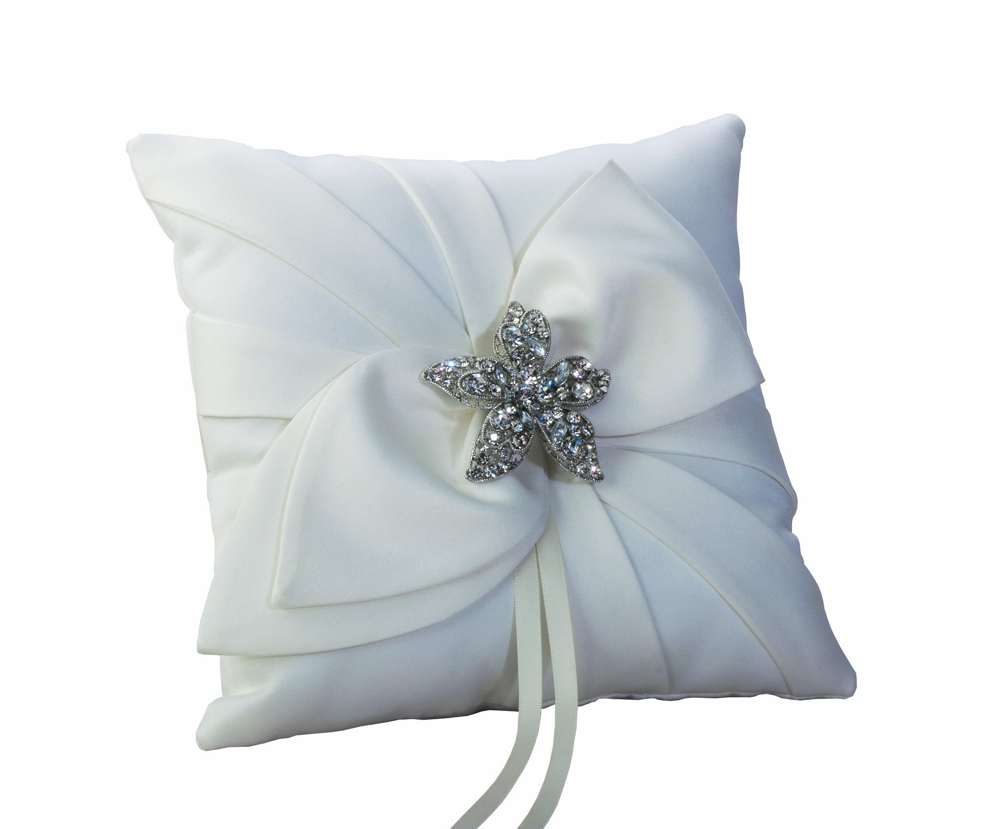 Ivy Lane Design Eva Collection Ring Pillow, White