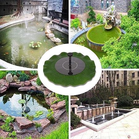 LHY LIGHT Bomba de Fuente Solar Ahorro de energía Chorro de Agua Piscina Jardín Bombas de Agua solares baño de Aves Tanque de Peces Estanque pequeño Patio decoración: Amazon.es: Deportes y aire