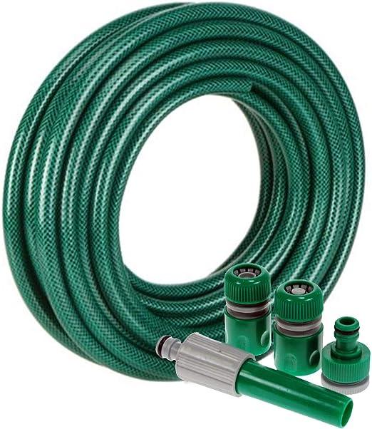 15 Metre mayor PVC manguera de jardín juego de Spray boquilla: Amazon.es: Jardín