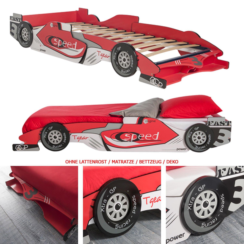 habeig Kinderbett RED RACER 190x90cm 200x90cm Jugendbett Autobett ...